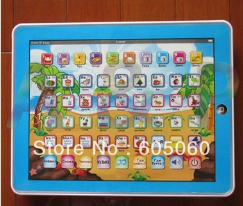 Free shipping Hotsale Russian language Y-pad children learning machine RUSSIAN computer for kids study many designs toys