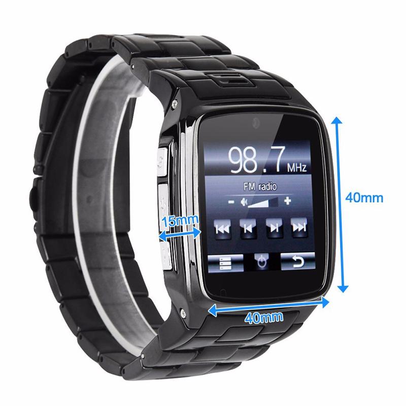 "1.6"" Touchscreen Stainless Steel Bluetooth 3.0 SIM Camera HD DV Recording Pedometer 4G Memory Smart Watch Phone security MSN P20(China (Mainland))"
