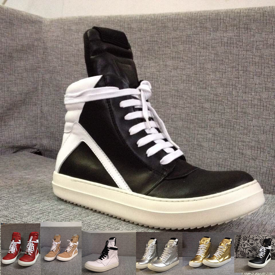 Фотография Factory exclusive High-end genuine leather RO RUNNER DRSK HIP-HOP street fashion boot T stage design leisure luxury shoes