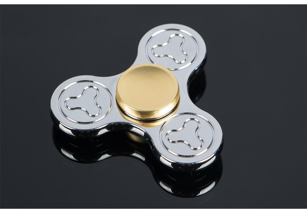 Tri Fidget Hand Spinner Metal Triangle Torqbar Zinc Alloy Puzzle Finger Toy EDC Focus Fidget Spinner ADHD Austim Super Fast Toy