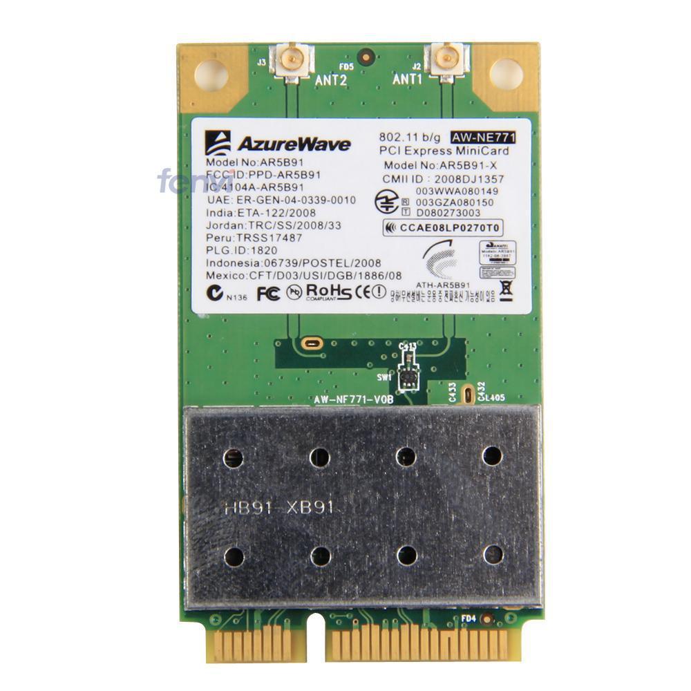 Atheros AR5B91 AR9281 Wifi Wireless Mini PCI-E Network Adapter 802.11 b/g/n PCI Express Wireless card for laptop(China (Mainland))