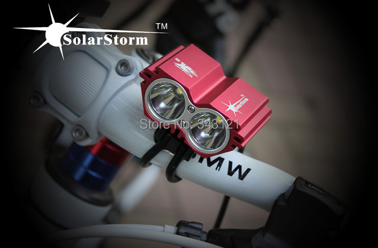 SolarStorm X2 2*CREE XM-L U2 4 Modes LED 2000LM Dual Head Bicycle light bicycle front light headlight- Free Shipping<br><br>Aliexpress