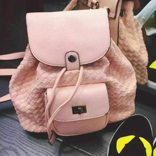 Black Backpacks Women Pu Leather Knitting Bucket Drawstring Backpack School Vintage Mochila Feminina Casual Travel Bag XA569A(China (Mainland))