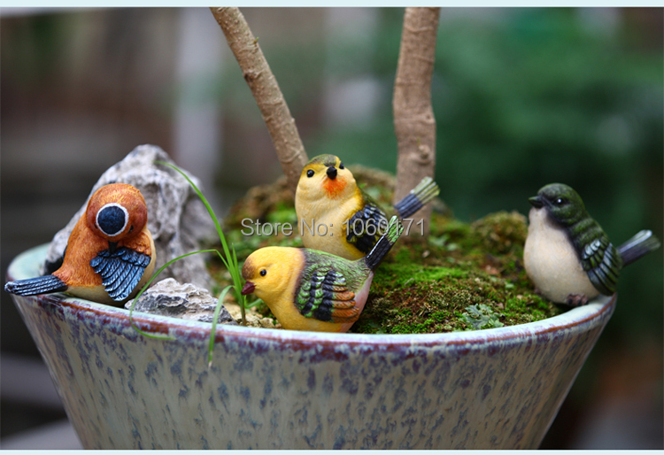 Buy decorative garden animals resin birds for Figurine decoration jardin