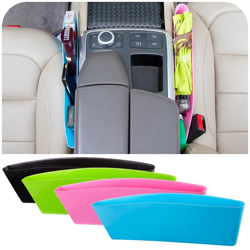 2PCS Auto Car Seat Gap Pocket Catcher Organizer Leak-Proof Storage Box New organizador de asiento trasero(China (Mainland))
