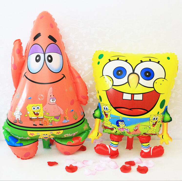 inflatable animal Red Feet Sponge Bob Shape foil balloons Spongebob Patrick Star Birthday Party Supplies(China (Mainland))