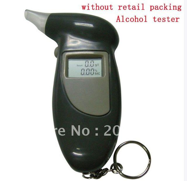without retail packaing Alcohol Sensor Mini Real-time Alcohol Detector Alarm Clock Countdown Timer Alcohol Tester 250pcs/lot