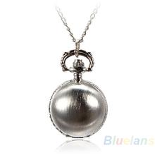 Min 16 5 Colors Antique Retro Vintage Ball Metal Steampunk Quartz Necklace Pendant Chain Small Pocket