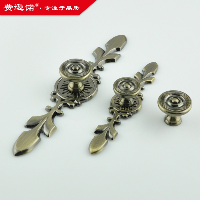 Copper furniture wardrobe door handle hole Continental antique drawer handles Home Hardware 122 556(China (Mainland))