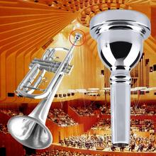 Hot Bullet Professional Trumpet Mouthpiece for Bach 12C Size Silver Plated free shipping(China (Mainland))