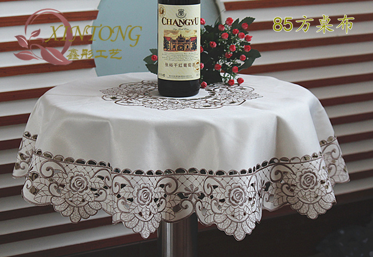 High Quality Europe Style Table Cloth Embroidered Tablecloth Hot Sale House Design Tablecloths for Wedding Handmade Tablecloth(China (Mainland))