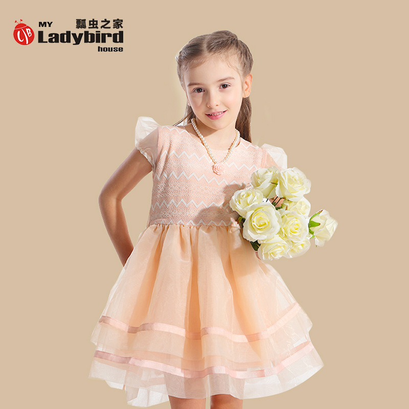 Wholesale Girls Summer 2015 Teenagers Dress And Accessories Lace Party Dresses Princess Elsa Cosplay Girls Pageant Clothes(China (Mainland))