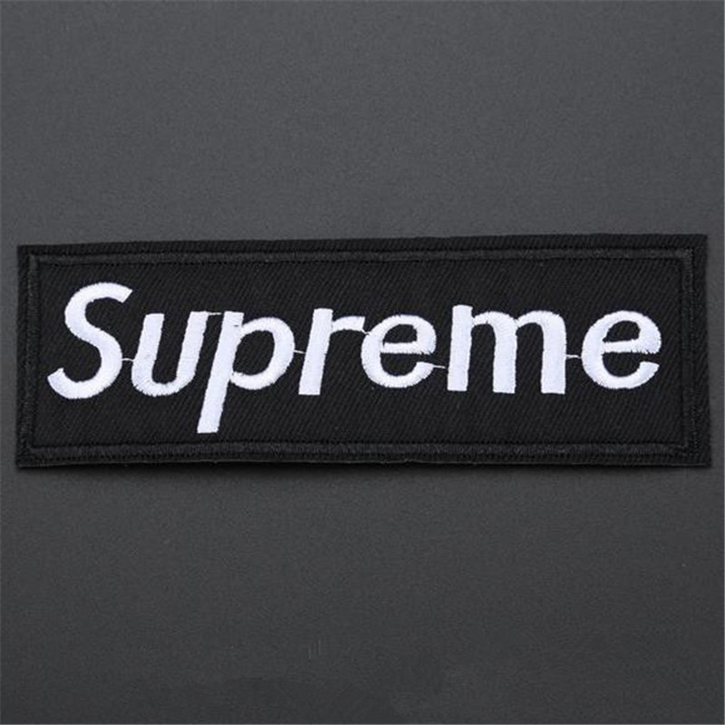 Embroidery Patch Fashion Supreme DIY Iron on Patches For Clothing ( t shirt , polo , clothes , bag , shoes ,hat) FreeShipping(China (Mainland))