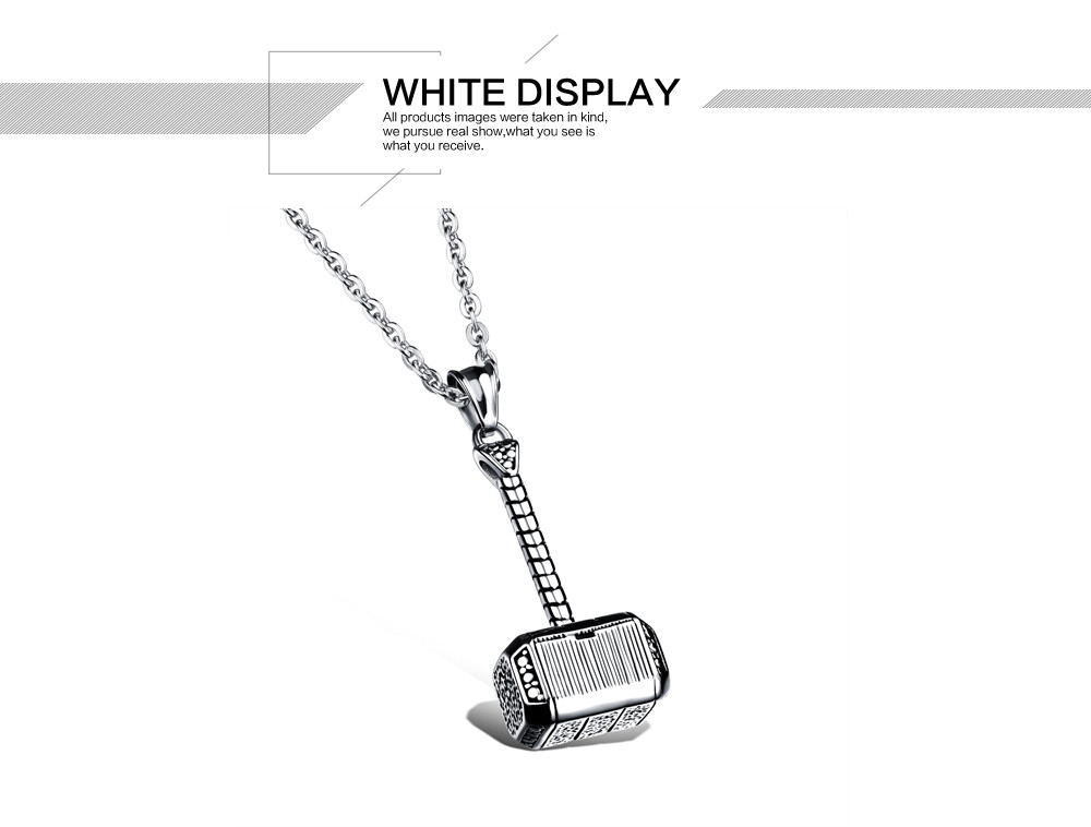 Fashion jewelry link chain Character Thor's hammer pendant domineering man cool gifts necklace 316L Stainless Steel GKX1000(China (Mainland))