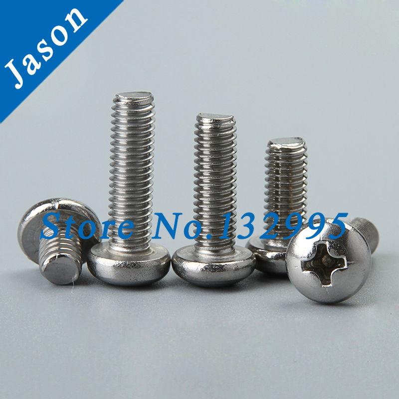 8#-32*1-5/8  Stainless steel A2 Pan head cross recessed screws SUS 304 Pan Head Screw 8#*L<br><br>Aliexpress
