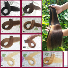 Seamless Tape In Human Hair Extensions Remy 20pieces Skin Weft Hair Extensions aplique de cabelo humano 20 22 24'' Factory Price(China (Mainland))