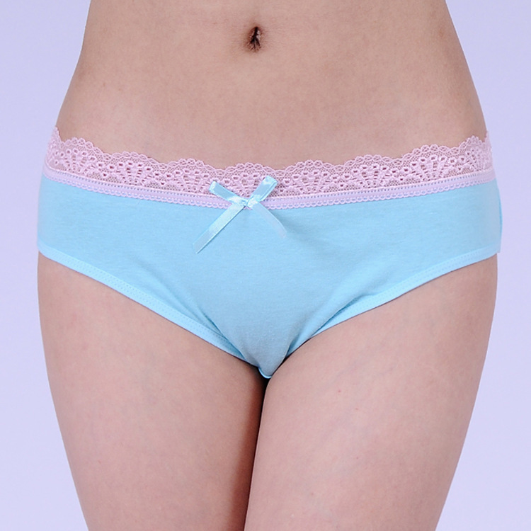 86455 Free Shipping Factory Directly Sale New Arrival 2015 Women Lace Cotton Panties