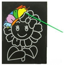 Arpa Kids Magic Scratch Art Doodle Pad Painting Card Educational Game Toys Early Learning Drawing Toys,6pcs 1LOT=6 Designs(China (Mainland))