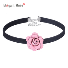 Buy 2017 Flowers Ribbon Fabric Handmade Collar Necklace Choker Design Fashion Jewelry Women Girl Birthday Wedding Gift NM3647 for $1.59 in AliExpress store