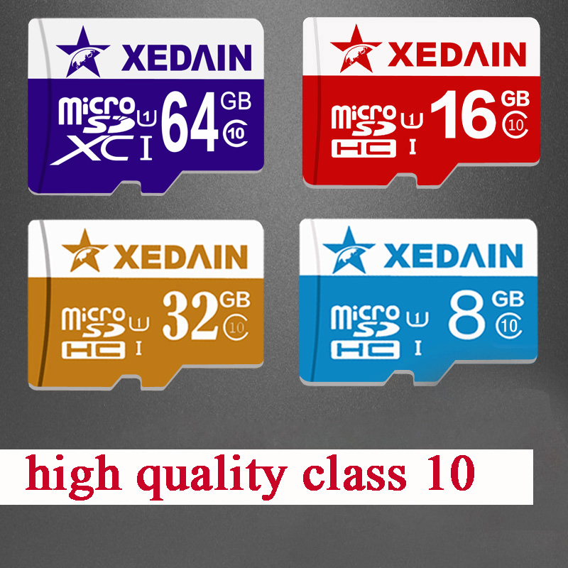 XEDAIN real capacity Memory Card Micro SD Card 8GB 16GB 32GB 64GB Class 10 Tarjeta Micro SD 8GB Clss 10 TF Mini Memoria Carte(China (Mainland))