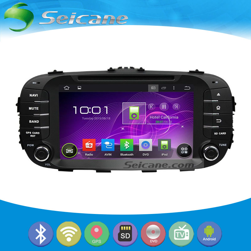 Seicane 8 Inch GPS Radio Bluetooth DVD Player for 2014 KIA SOUL HD Touch Screen Navigation System with Steering Wheel Control(China (Mainland))