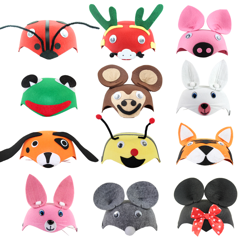 Free shipping Children's animal hat dance party activities props wedding supplies Halloween show dressed Christmas headdress(China (Mainland))