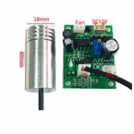 80 mw 450nm blue laser diodo módulo com motorista de poder DC12V 18x40mm