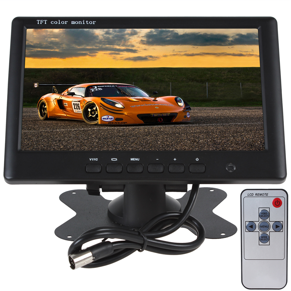 HD 800 x 480 Super Thin 7 Inch Car Monitor TFT Car lcd monitor Color LCD 2 Channels Video Input Car Rear View Monitor(China (Mainland))