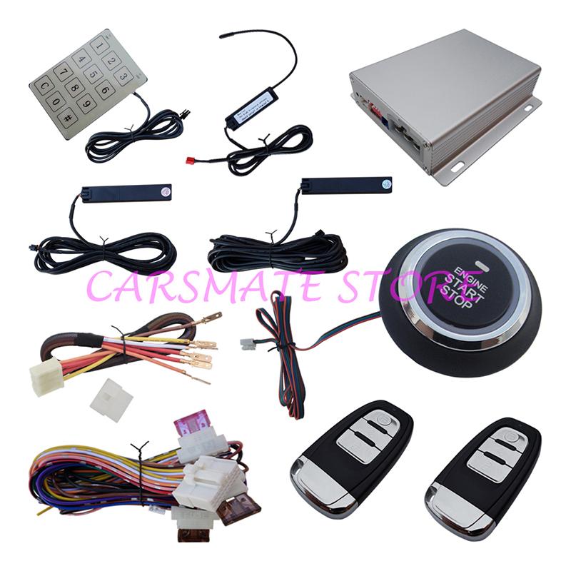 Multiple-Function PKE Car Alarm System Smart Key & Keyless Entry Push Button Start & Hopping Code Stock In Australia & USA(China (Mainland))