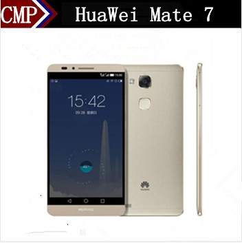 "Original Huawei Ascend Mate 7 4G LTE Mobile Phone Kirin 925 Android 4.4 6"" FHD 1920x1080 3GB RAM 32GB ROM 4000mAh Fingerprint(China (Mainland))"