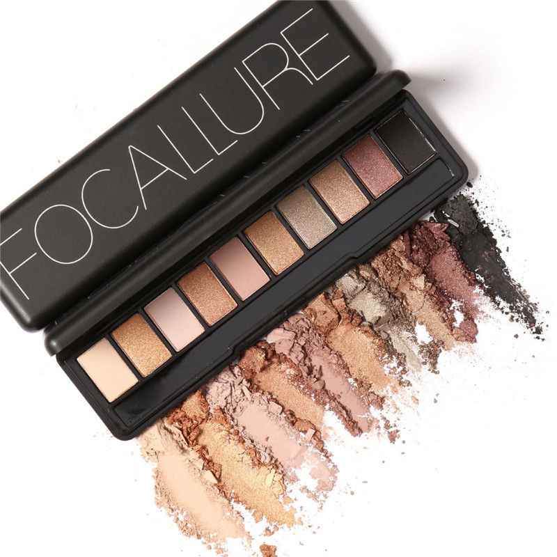 Focallure Makeup Palette Natural Eye Makeup Light Ten Colors Eye Shadow Makeup Shimmer Matte Eyeshadow Palette Set<br><br>Aliexpress