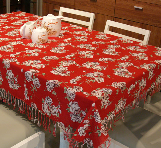 fashion tasselwowen tablecloth linen&cotton 7 styles tablecloth trendy printed kitchen dining table cloth high quality #zb0013-1(China (Mainland))