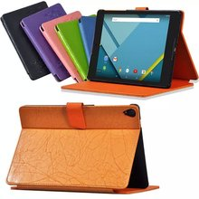 For HTC 8.9″ Google Nexus 9 Tablet Floral Printed Elegant PU Leather Case Cover  Fiolo Cover  for google nexus 9 with gift