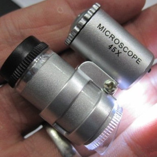 Brand new 45x mini adjustable portable microscope with 2 LED Hot Selling