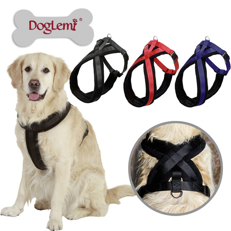 Large Dog Collars&Leads products for animals Dog Basic Collars Chest Harness mascotas chain Dog Supplies For Large Breed WP401(China (Mainland))