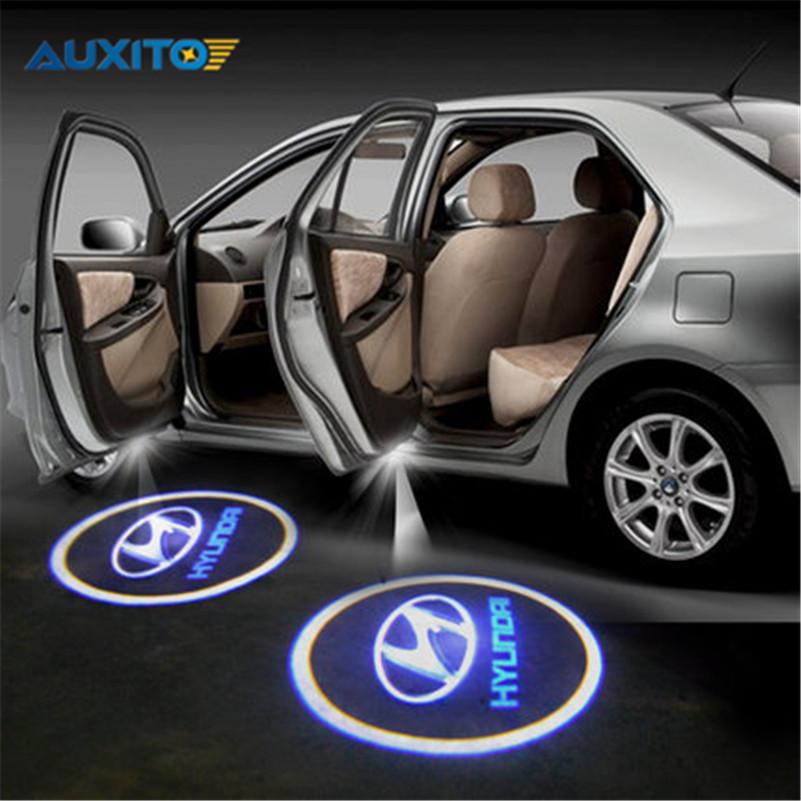 2x Car LED Door Warning Light For Hyundai solaris accent i30 ix35 i20 elantra santa fe tucson getz sonata i40 i10 coupe tiburon(China (Mainland))