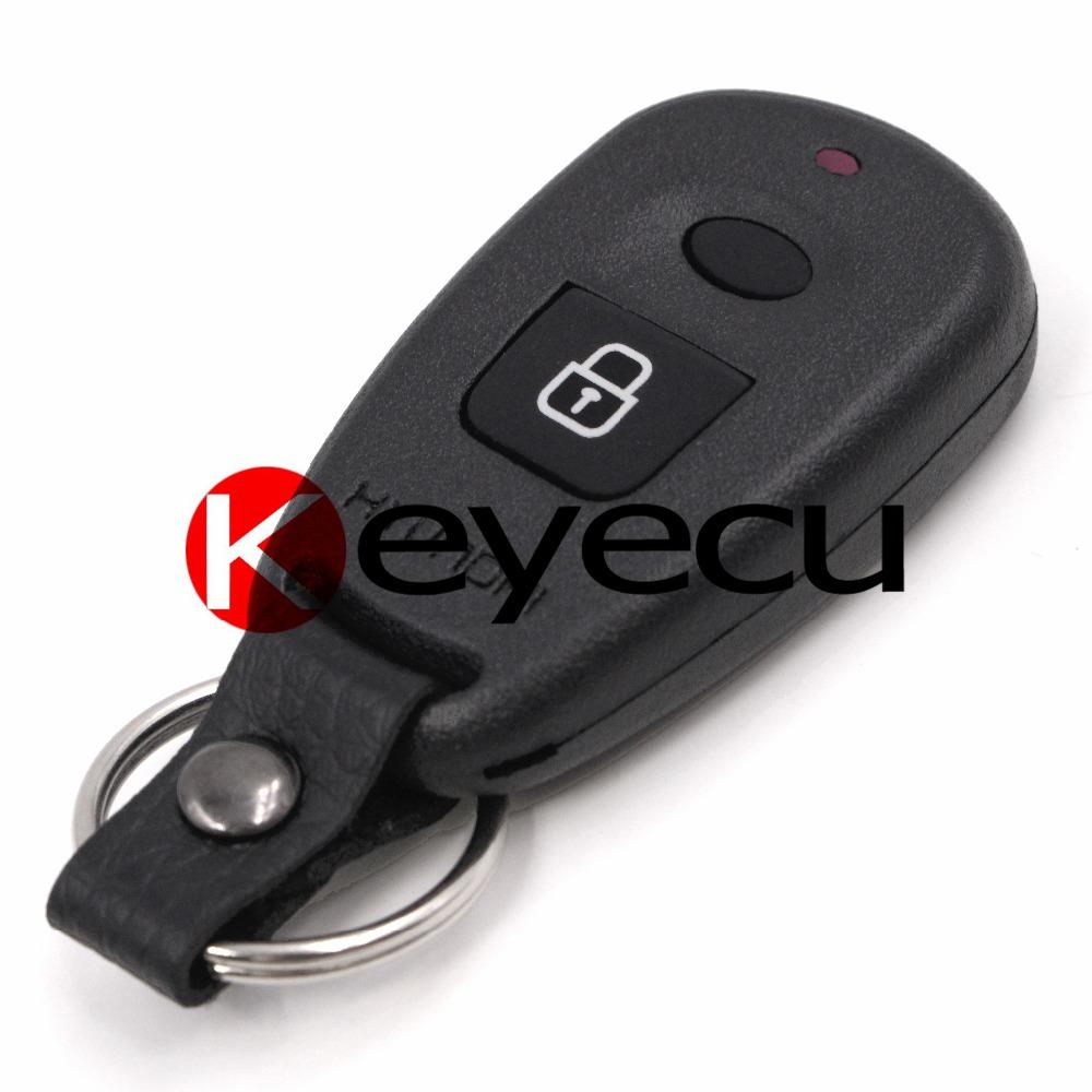 10pcs/lot Remote Key Shell 2 Button for Hyundai Elantra Santa Fe 2001-2003 (with Battery Holder)(China (Mainland))