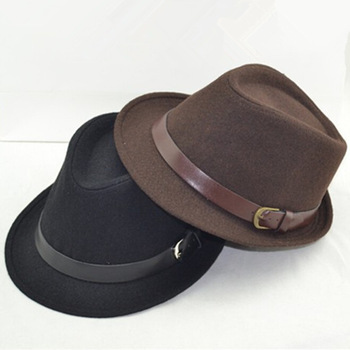 Fashion small fedoras male women s fashion jazz hat summer black woolen cap outdoor casual hat