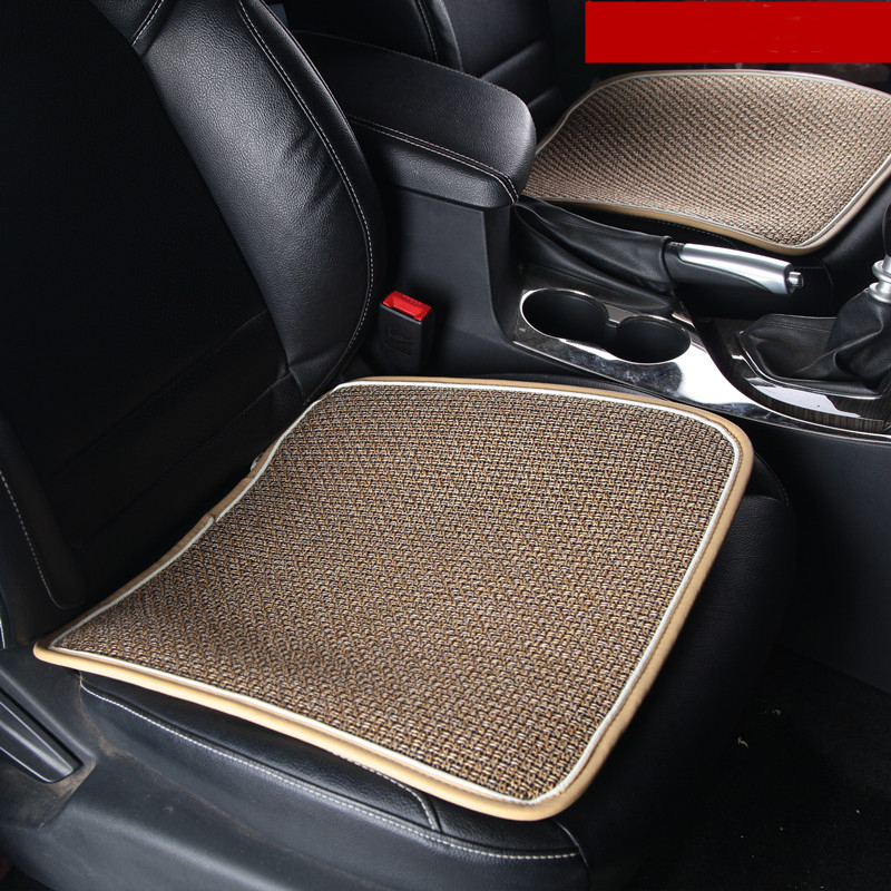 2016 New Car Cushion Four Seasons Car Sear Cover Universal Flax Front Seat Pad Used In Home And Office Free Shiping(China (Mainland))