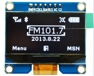 1.54 inch 7PIN White OLED Screen Module SSD1309 Drive IC Compatible for SSD1306 IIC / SPI Interface 128*64(China (Mainland))