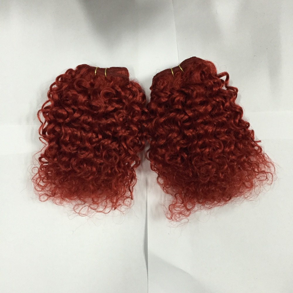 promotion Peruvian Curly Hair bebe curl 8 inch 3Pcs Lot Kinky Curly ...