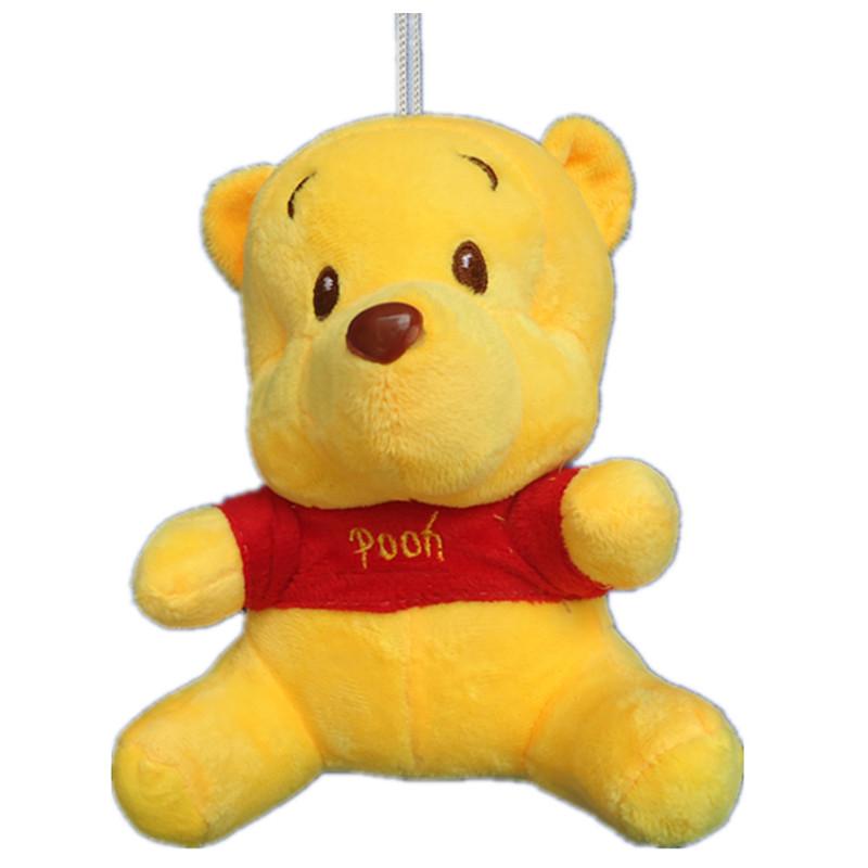 Movie & TV Disnep Stuffed Dolls 20cm plush animals Winnie Bear backpack pendants minion plush cute winnie plush toys for kids(China (Mainland))