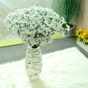 (60 Pcs/lot) New Arrival Fabric Gypsophila Baby Breath Artificial Silk Flowers For Decor Wedding Decoration Decorative Flower(China (Mainland))