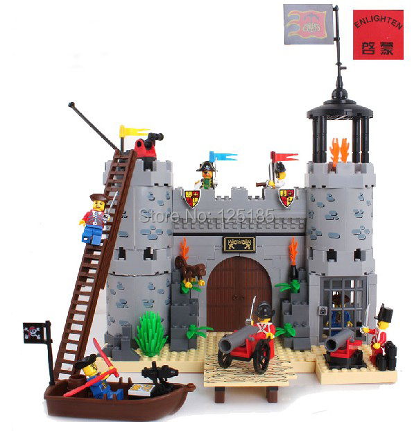 Toy Castles For Toddler Boys : Enlighten pirates rob barrack no building blocks sets