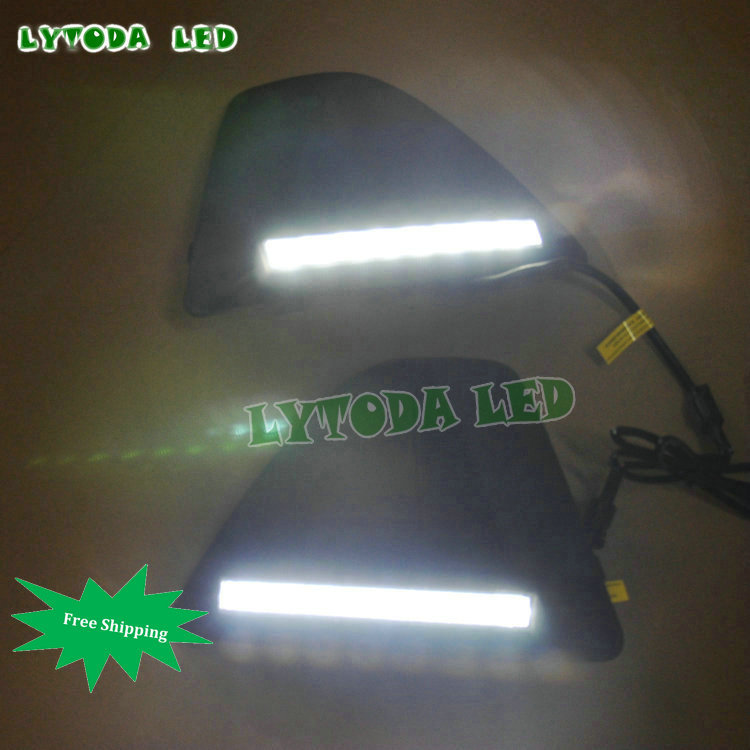 High brightness high quality dimmer LED drl for 2009-2011 Ford focus hatch-back without fog lamp<br><br>Aliexpress