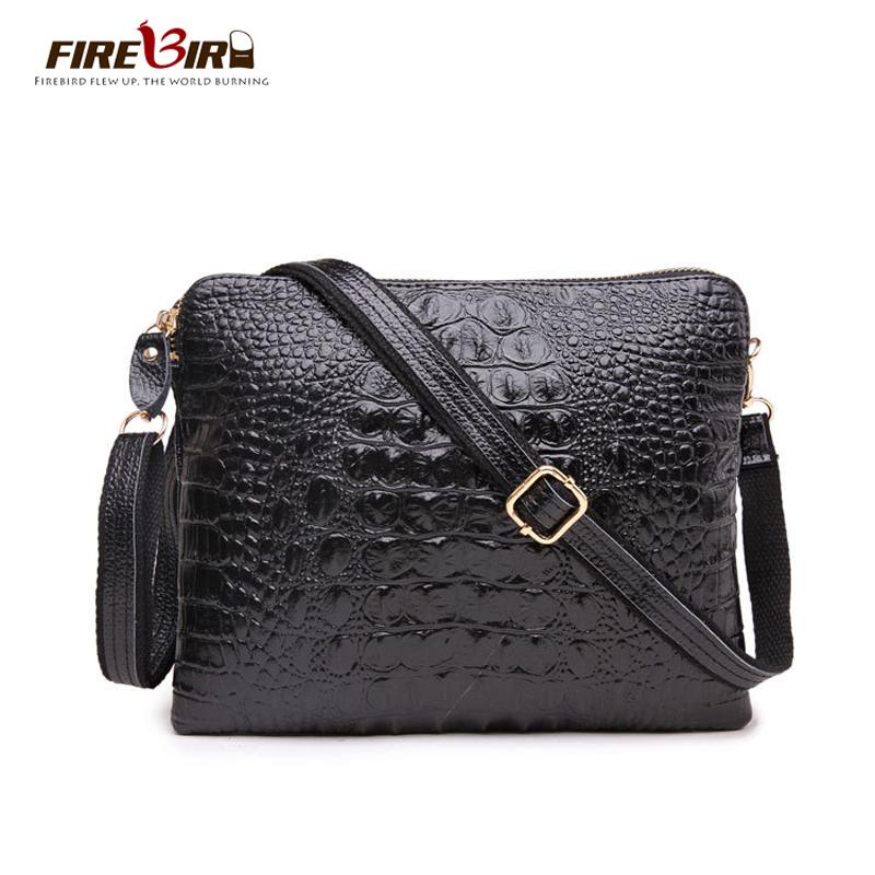 black cool bag Brand Design Cowhide Alligator handbag cross body messenger bag For women new Day clutch one shoulder bag HL6001(China (Mainland))