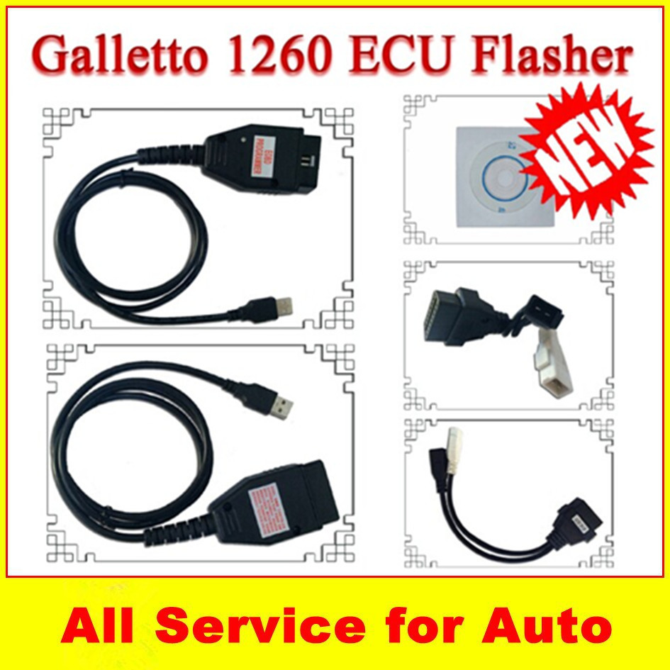 Hot promotion l!! Galletto 1260 ECU Chip Tuning Interface Galletto 1260 software OBDII EOBD2 Diagnostic TOOL(China (Mainland))