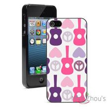 Heart Peace Guitar Music Protector back skins mobile cellphone cases for iphone 4/4s 5/5s 5c SE 6/6s plus ipod touch 4/5/6