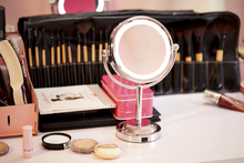 6 Inch Led Professional Makeup Mirror With Led Light Use 3 pcs AA Battery Portable Mirror  Table Stand Magnifying Mirror(China (Mainland))