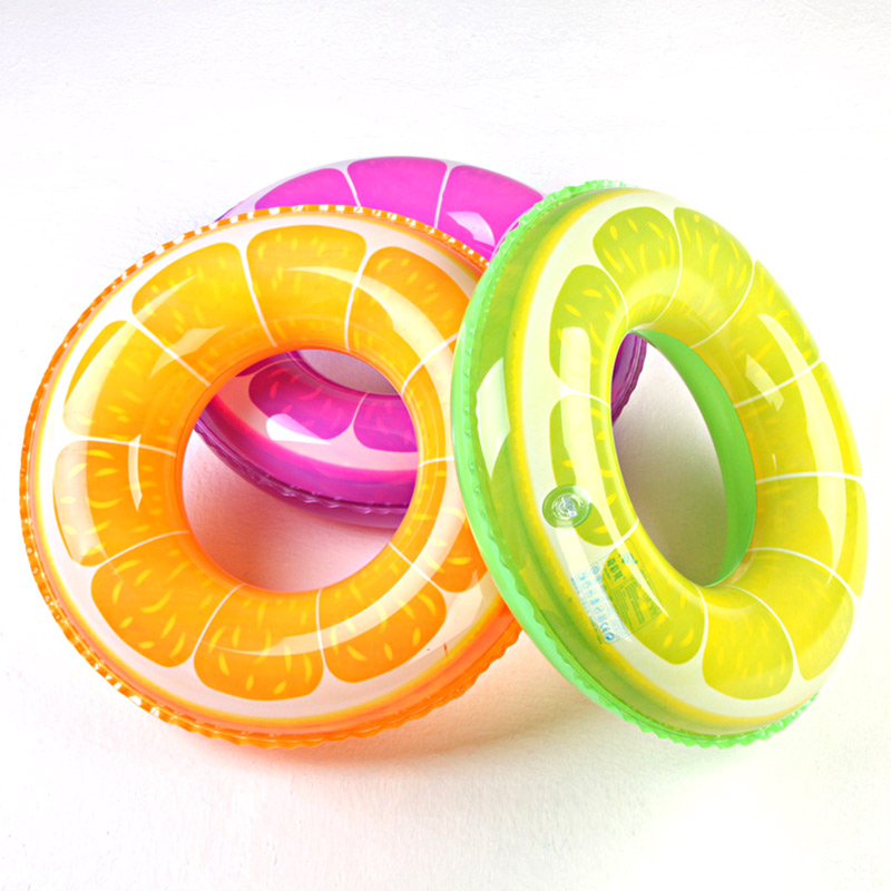 kids Adult Inflatable 60-90cm Pool Float Swim Rings Inflatable Raft Orange Swimming Laps School Kicked Summer Water Beach Sports(China (Mainland))